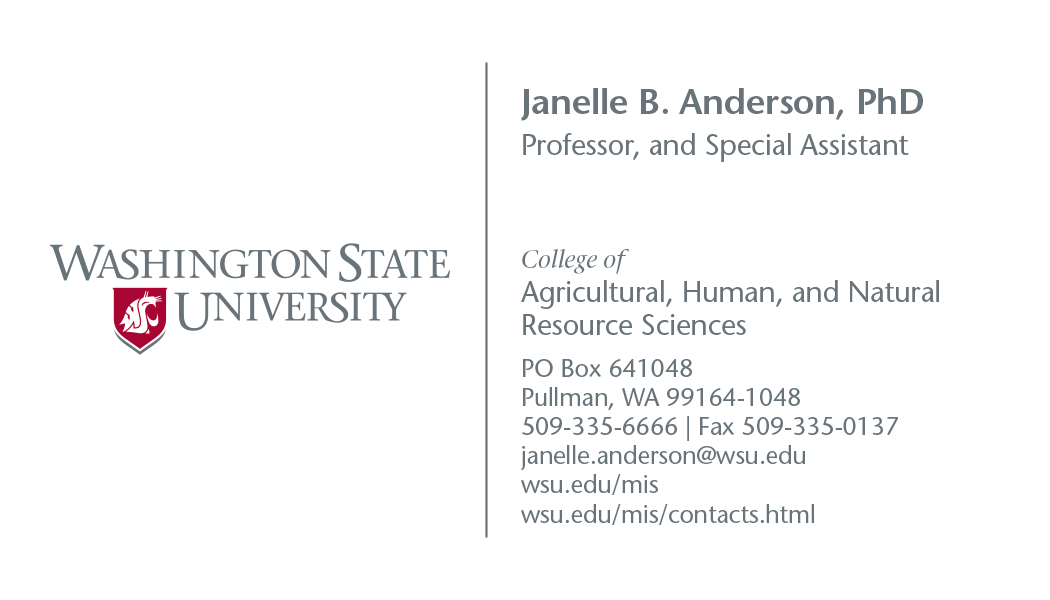 Stationery | Brand | Washington State University
